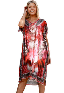 Magenta Sunset at Sanur - Kaftan Dress - Global Goddess Homewares