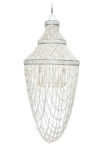 Nusa Dua Beach - Shell Chandelier - Global Goddess Homewares