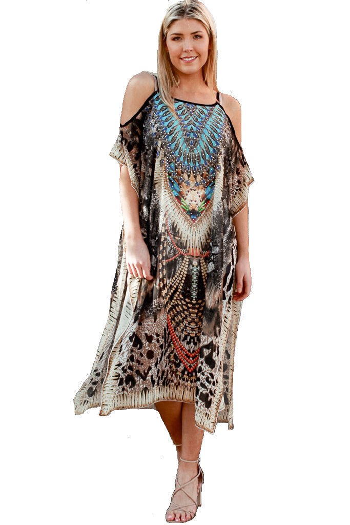 Tribal Goddess - Kaftan Dress - Global Goddess Homewares