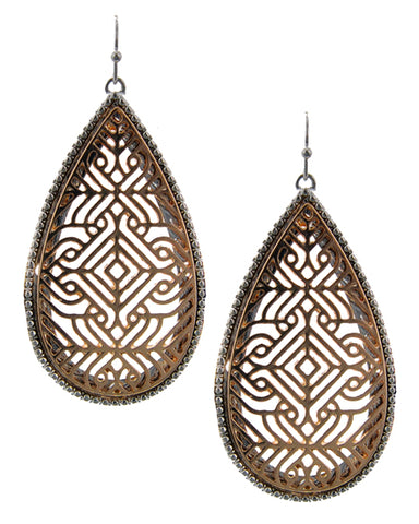Jewel of Zambia (Gold) - Earrings - Global Goddess Homewares