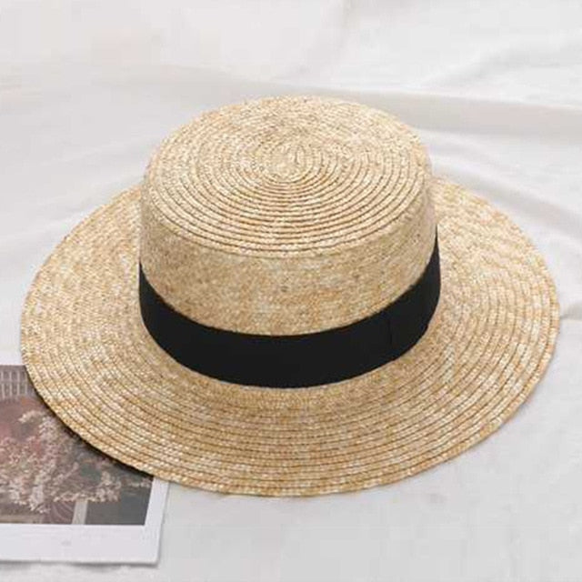 2019 Summer Women Wide Brim Straw Hat Fashion Chapeau Paille Lady Sun Hats Boater Wheat Panama Beach Hats Chapeu Feminino Caps