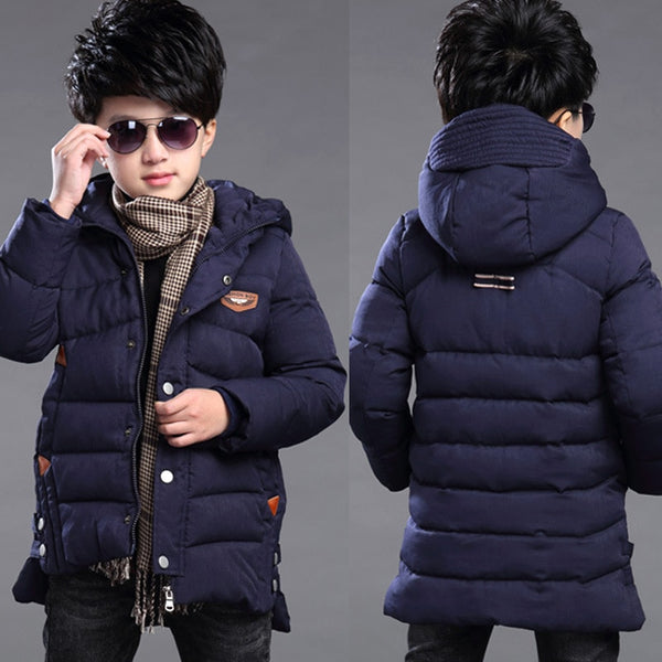 XINBAO 2019 boys coats and jackets size 5 6 7 8 9 10 11t age heavyweight winter autumn fall clothing thickening hood wool zipper