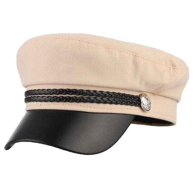 2019 New High Quality Casual Military Cap Man Woman Cotton Beret Flat Hats Captain Cap Trucker Vintage Black Sport Dad Bone Male