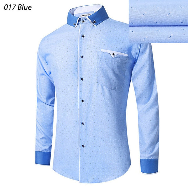 New Arrival 2018 White Shirt Men Long Sleeve Business Casual Shirts Men Dress Shirts Comfortable Clothing Camisa Masculina