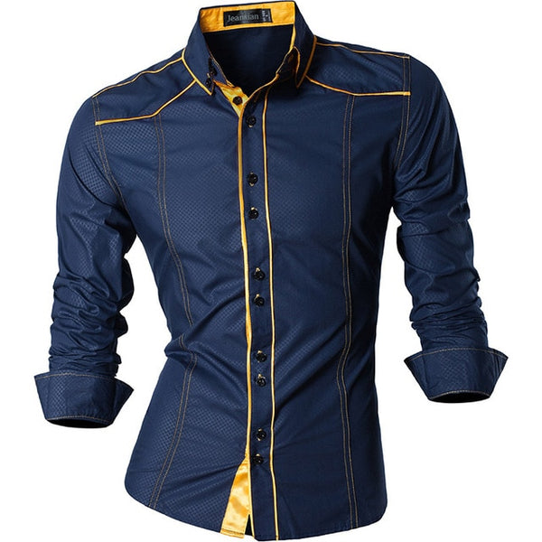 2019 Spring Autumn Features Shirts Men Casual Jeans Shirt New Arrival Long Sleeve Casual Slim Fit Male Shirts Z034
