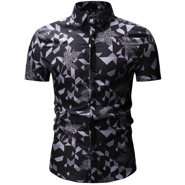 Mens Summer Beach Hawaiian Shirt 2019 Brand Short Sleeve Plus Floral Shirts European size M-3XL 26 color Men Clothing Camisas