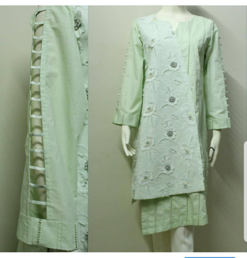 Green Asymmetrical kurta
