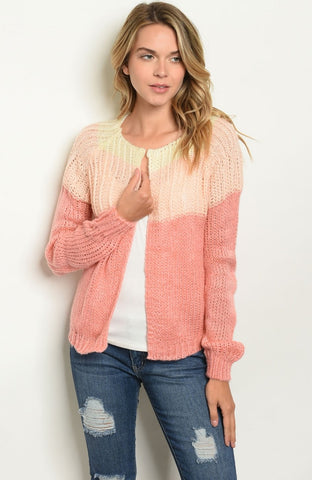 **RESTOCKED I'm Yours Color Block Cardigan - Rural Aura