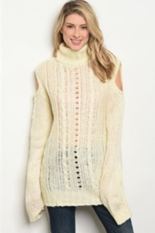Creamin Cozy Oversized Turtle Neck - Rural Aura