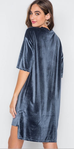Velour T Shirt Dress