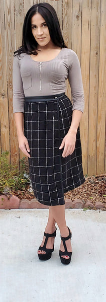 Plaid Pursuit Wrap Skirt - Rural Aura