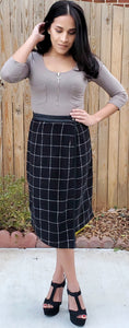 Plaid Wrap Skirt Women
