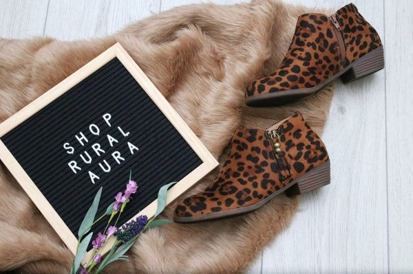 Leopard Ankle Boots - Rural Aura