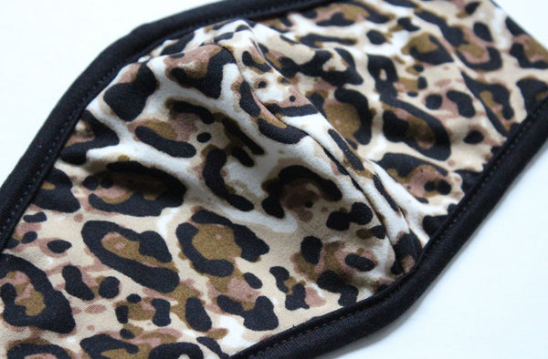 Thin Double Layer Reusable Leopard Face Mask - Rural Aura