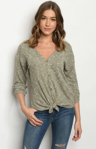 Plus Size Tunic Henley