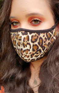 Thin Double Layer Reusable Leopard Face Covering