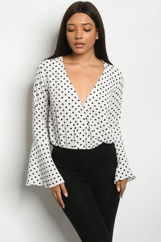 Sweet Chic Polka Dot Bodysuit - Rural Aura