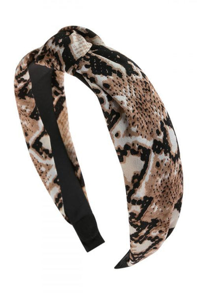Snake Skin Print Headbands Women