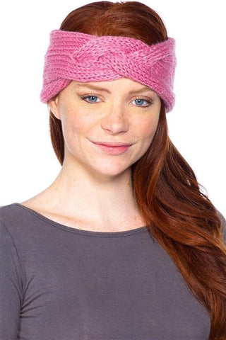 Keepin Cozy Knitted Headband: Mauve