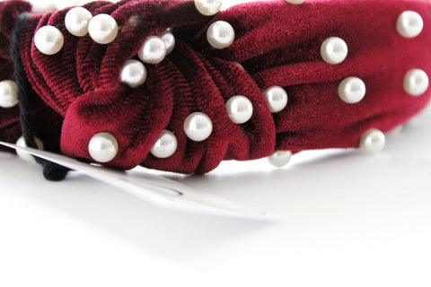 Burgundy Pearl Charming Headband