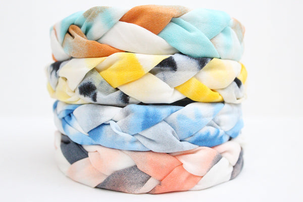 Women's Braided Tie Dye Headbands