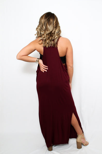 Wine Maxi Dress Women