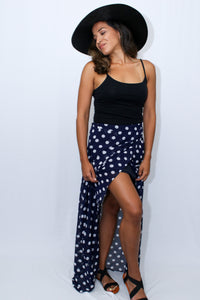 Polka Dot Maxi Skirt Women