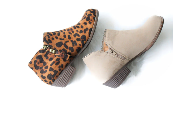 Leopard Ankle Booties - Rural Aura