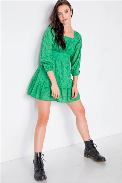 Sugar Pine Dress: Kelly Green