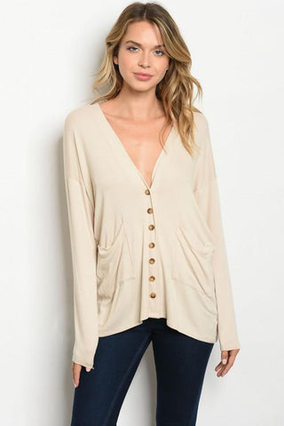 Cream Cardigan Women