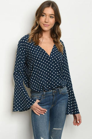 Polka Dot Bodysuit Women