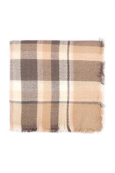 RESTOCKED** Fall Nights Tartan Fringe Blanket Scarf