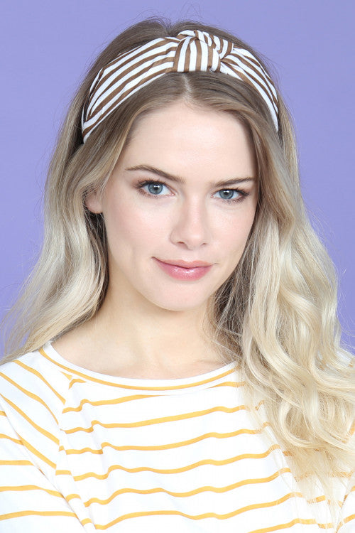 Stella : Cloth Striped Assorted Color Headbands