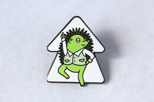 Hedgehog Hop Enamel Pin