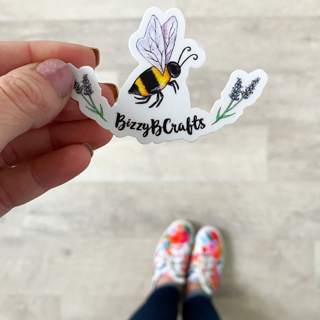 Bizzybcrafts Logo Sticker