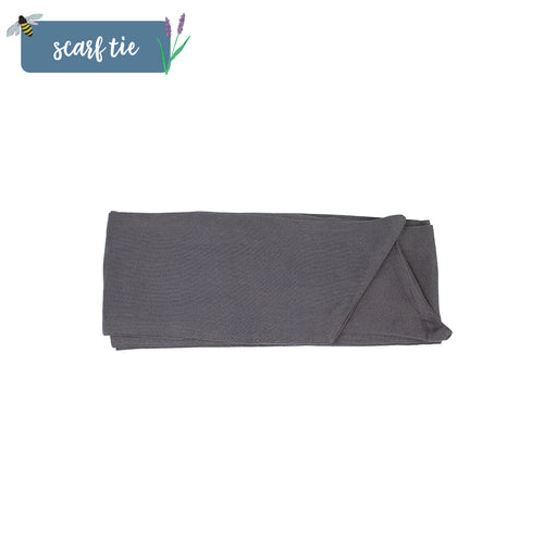 Charcoal Grey Scarf Tie
