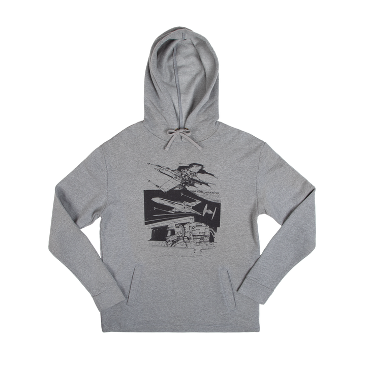 X-Wing Storyboard Collage Hoodie