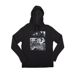 Tie Fighter Storyboard Collage Charcoal Hoodie