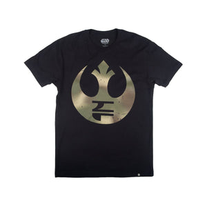 Star Wars Endor Rebel Icon Black Tee