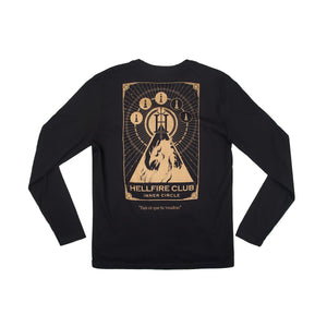 Marvel Hellfire Club Black Long Sleeve Tee