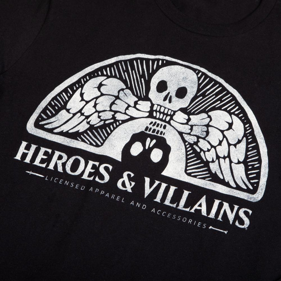 Heroes & Villains Branded Black Long Sleeve Tee