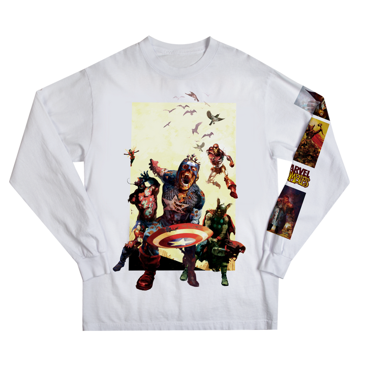 Marvel Zombies White Long Sleeve