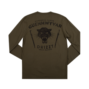 Drizzt Wondrous Power Olive Long Sleeve