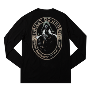 Drizzt From Darkness Black Long Sleeve
