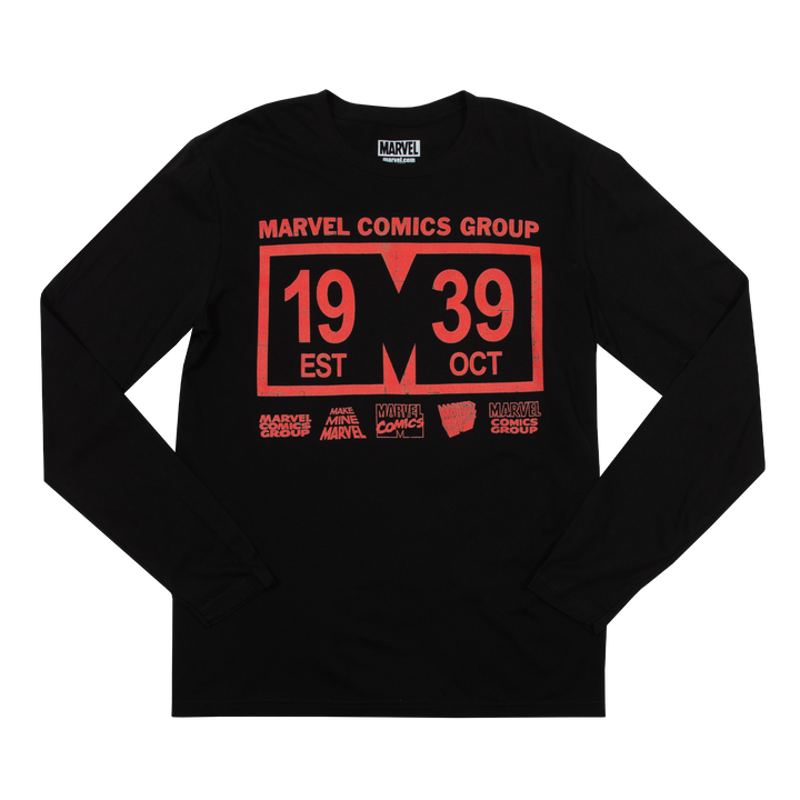 Marvel Comics Group '39 Black Long Sleeve
