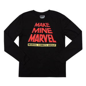Make Mine Marvel Scroll Black Long Sleeve