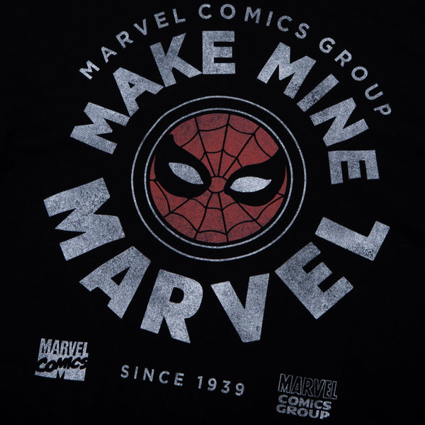 Marvel Comics Vintage Spidey Black Long Sleeve