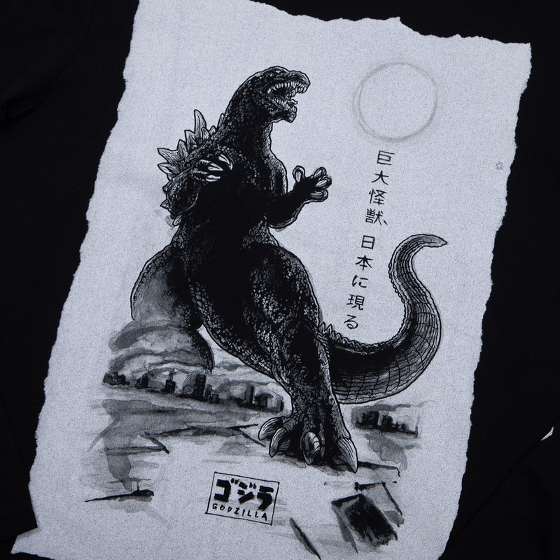 Godzilla Black Long Sleeve