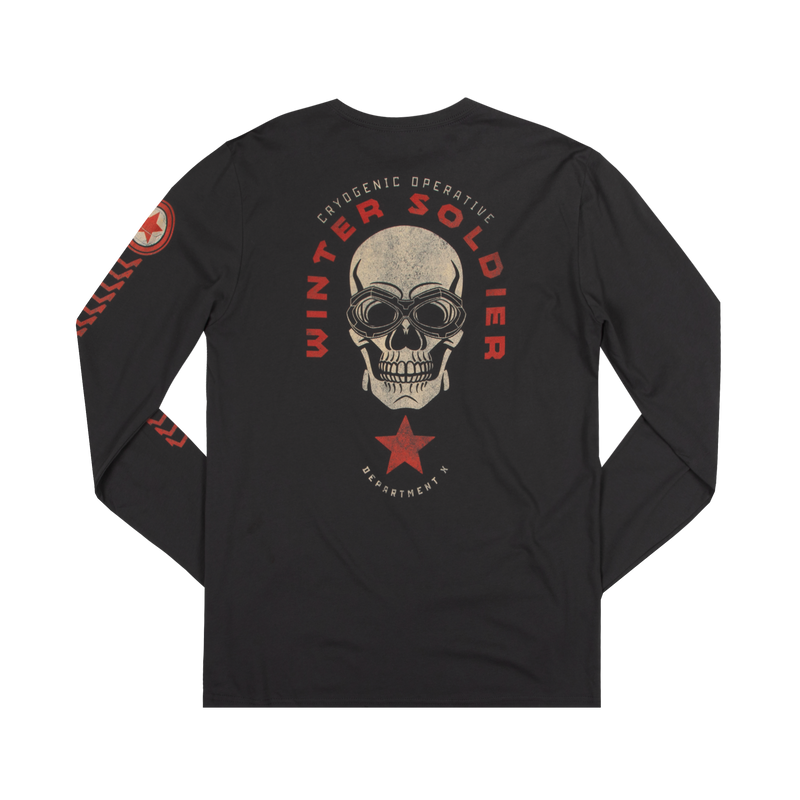 Marvel Winter Soldier Charcoal Long Sleeve