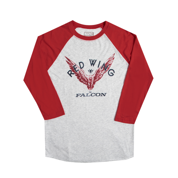 Marvel Falcon Red Wing Raglan